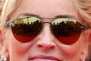 Sharon Stone Aviator Sunglasses