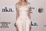 Dakota Fanning Off-the-Shoulder Dress