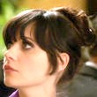 Zooey Deschanel Hair - Retro Updo