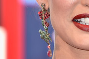 Bianca Balti Dangling Gemstone Earrings
