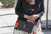 Jessica Chastain Leather Shoulder Bag