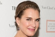 Brooke Shields Braided Updo