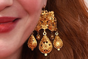 Christina Hendricks Gold Chandelier Earrings