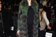 Coco Rocha Fur Coat