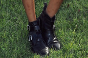 Jourdan Dunn Motorcycle Boots