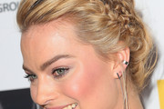 Margot Robbie Braided Updo