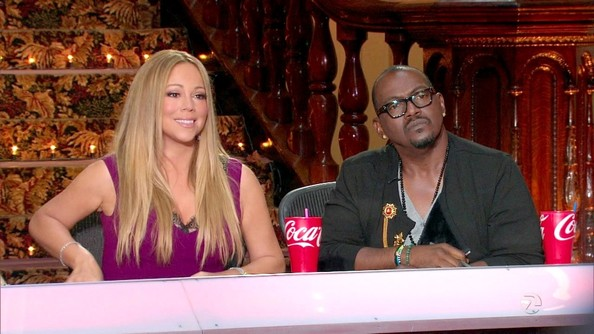 This sleek hair style made Mariah Carey look even more like a superstar.