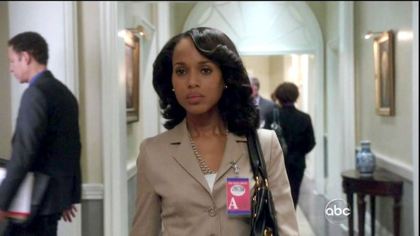 More Pics of Kerry Washington Medium Curls (7 of 13) - Shoulder Length Hairstyles Lookbook - StyleBistro