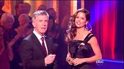 Brooke Burke Charvet glammed it up for the 'DWTS' ballroom in a single-shoulder gown.