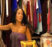Melissa Gorga looked ready to hit the club in this chain mail-detailed tube top.