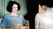 Jessica Brown-Findlay slipped on a blue silk nightie for her bed scenes.