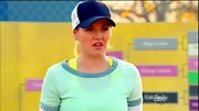 Elisha Cuthbert hit the softball field in a throwback mesh cap.
