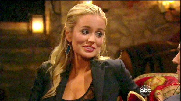 Emily Maynard added wow factor to a black blazer with blue Agate drop earrings.