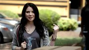 Grace Phipps had a rocker vibe in this graphic tee.