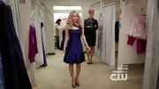 AnnaSophia Robb looked '80s chic in a purple cocktail dress on 'The Carrie Diaries.'