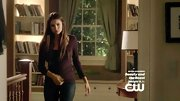 Nina Dobrev kept things casual as usual on 'The Vampire Diaries' in a simple burgundy top.