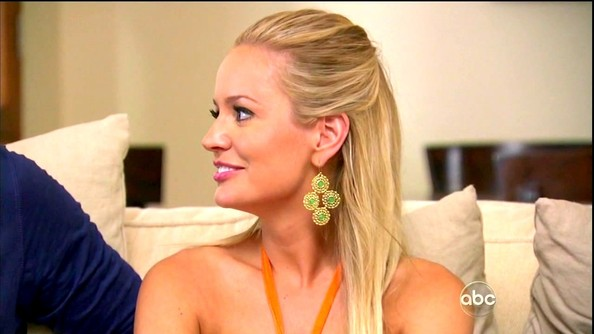 """Emily Maynard loves her statement baubles. For the final episode of 'The Bachelorette,' she added an exotic edge with the """"Garden Party Earrings."""""""
