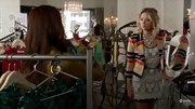 We love unexpected style combinations like Ashley Benson's lace dress and colorful striped blazer on 'Pretty Little Liars.'