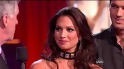 Melissa Rycroft went for the bondage babe look on 'DWTS' with a studded choker necklace.