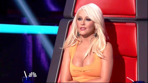 More Pics of Christina Aguilera Long Wavy Cut (1 of 5) - Christina Aguilera Lookbook - StyleBistro