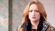 Kaylee Defer accentuated her bee stung lips with bubblegum pink gloss.