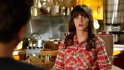 Zooey Deschanel was mad for plaid on 'New Girl' in this pastel top.