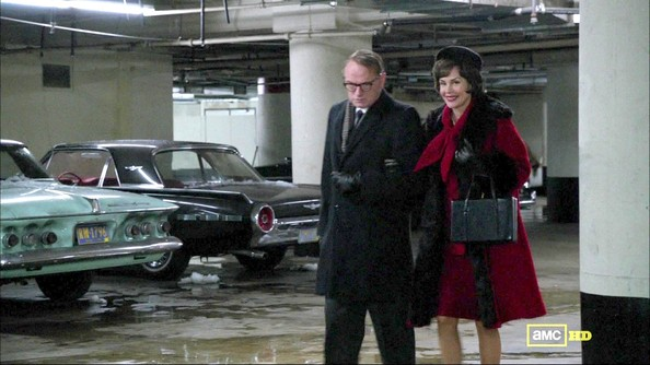 Embeth Davidtz Wool Coat