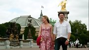 On 'Covert Affairs,' Piper Perabo took a romantic Parisian stroll in a pink summer dress.