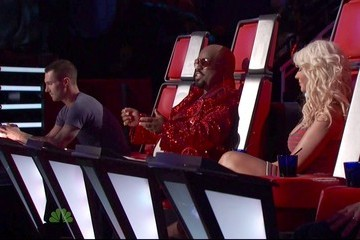 Christina Aguilera Cee-Lo Green The Voice Season 2 Episode 15