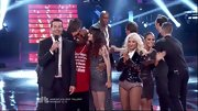 Christina Aguilera apparently left her pants at home, hitting 'The Voice' stage in rhinestone-covered underpants.