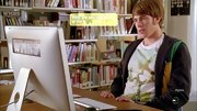 Blake Jenner kept it casual on 'Glee' when he wore this tree screen print tee.