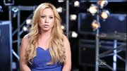 Sabrina Bryan's silky blue sweetheart dress was a pretty and relaxed choice.