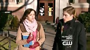 Katie Findlay wore this pastel pink scarf for her winter-time look on 'The Carrie Diaries.'