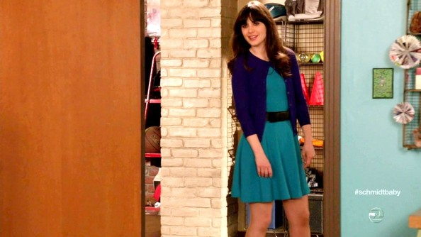 Zooey Deschanel's Cute Color-Blocking on 'New Girl'