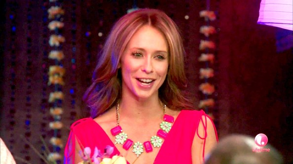 Jennifer Love Hewitt Flower Statement Necklace