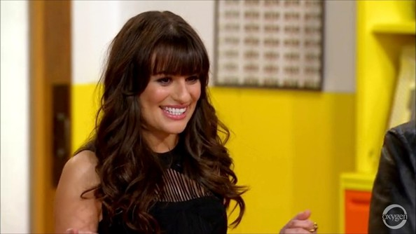 Lea Michele Long Curls with Bangs