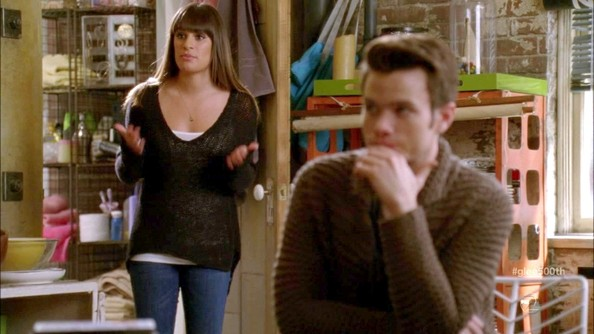 Lea Michele V-neck Sweater