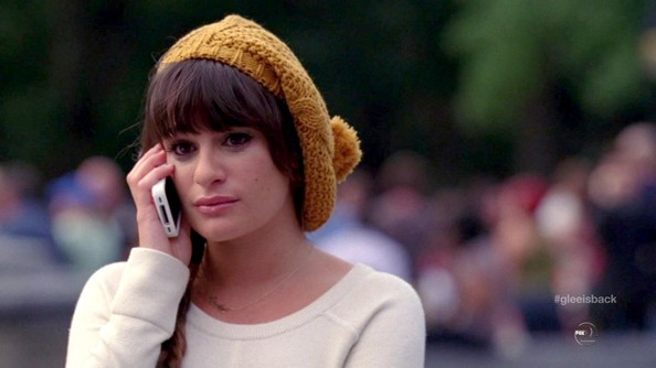 Lea Michele Crocheted Beret