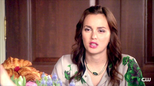 Leighton Meester Gemstone Collar Necklace