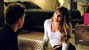 Lea Michele flirted up on a storm on 'Glee' in this cozy figure-hugging sweater.