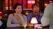 Casey Wilson went for a layered look on 'Happy Endings,' pairing her sheer sweater with a taupe tank.