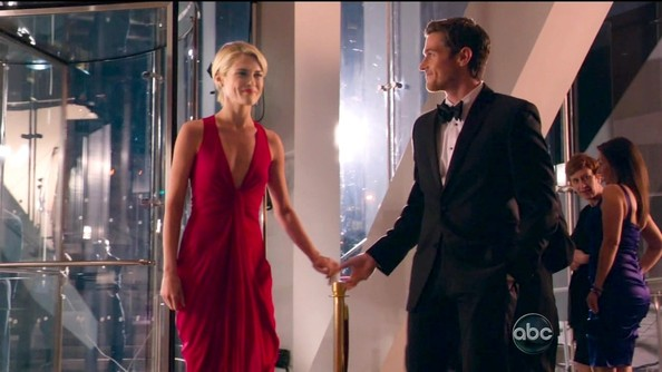 Rachael Taylor's McQueen Gown on '666 Park Avenue'