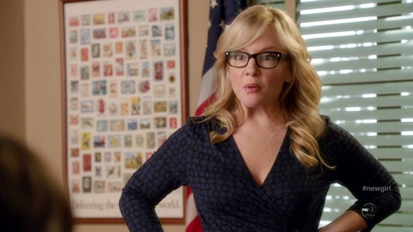 Rachael Harris Long Curls with Bangs
