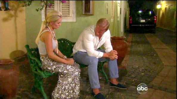Emily Maynard had a touch of mermaid style on 'The Bachelorette' in a shimmery silver floor-length skirt.
