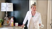Elisha Cuthbert looked ready for spring on 'Happy Endings' in a white jean jacket and matching tank.