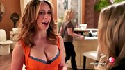 Jennifer Love Hewitt rocked a bright orange bustier dress on 'The Client List.'