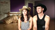 Melissa Rycroft got into the Western swing of things with a jaunty cowboy hat.