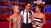 Gilles Marini wore a solid black tie as part of his Dancing With The Stars costume.