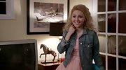 AnnaSophia Robb paired a classic denim jacket over her pink frock for a cool mix of textures and styles.