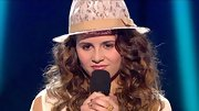 Carly Rose Sonenclar opted for a funky vibe on stage with this lacy fedora.